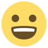 Emoji One Wall Icon Smiling Face With Open Mouth