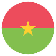Emoji One Wall Icon Burkina Faso Flag