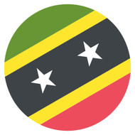 Emoji One Wall Icon Saint Kitts And Nevis Flag
