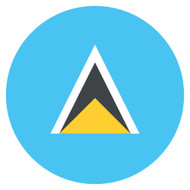 Emoji One Wall Icon Saint Lucia Flag