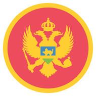Emoji One Wall Icon Montenegro Flag