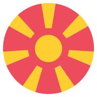Emoji One Wall Icon Macedonia Flag