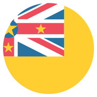 Emoji One Wall Icon Niue Flag