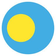 Emoji One Wall Icon Palau Flag