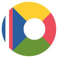 Emoji One Wall Icon Reunion Flag