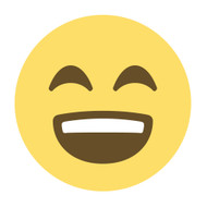 Emoji One Wall Icon Smiling Face With Open Mouth And Smiling Eyes