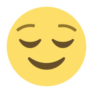 Emoji One Wall Icon Relieved Face
