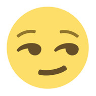 Emoji One Wall Icon Smirking Face