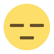 Emoji One Wall Icon Expressionless Face