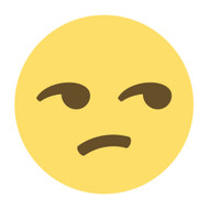 Emoji One Wall Icon Unamused Face