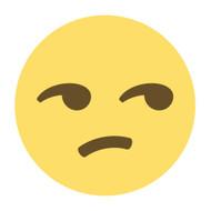Emoji One Wall Icon Unamused Face
