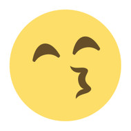 Emoji One Wall Icon Kissing Face With Smiling Eyes