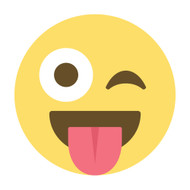 Emoji One Wall Icon Face With Stuck-Out Tongue And Winking Eye