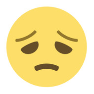 Emoji One Wall Icon Disappointed Face