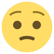 Emoji One Wall Icon Worried Face