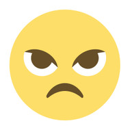 Emoji One Wall Icon Angry Face