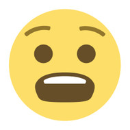 Emoji One Wall Icon Anguished Face
