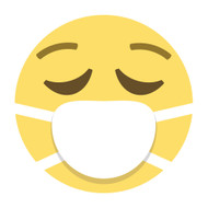 Emoji One Wall Icon Face With Medical Mask