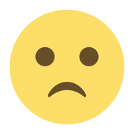 Emoji One Wall Icon Slightly Frowning Face