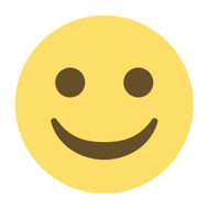 Emoji One Wall Icon White Smiling Face