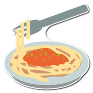 Emoji One Wall Icon Spaghetti