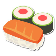 Emoji One Wall Icon Sushi