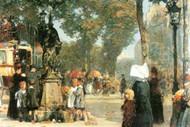 Parisian Street Scene [1] by Hassam