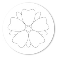 Emoji One COLORING Wall Graphic: Circle Flower