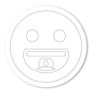 Emoji One COLORING Wall Graphic: Circle Grinning Face