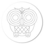 Emoji One COLORING Wall Graphic: Circle Owl