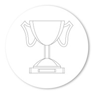 Emoji One COLORING Wall Graphic: Circle Trophy
