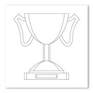 Emoji One COLORING Wall Graphic: Square Trophy