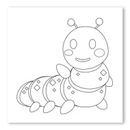 Emoji One COLORING Wall Graphic: Square Bug