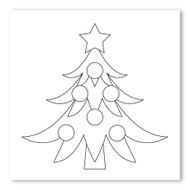 Emoji One COLORING Wall Graphic: Square Christmas Tree