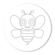 Emoji One COLORING Wall Graphic: Circle Honeybee