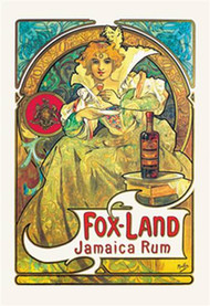 Fox-Land Jamaica Rum by Alphonse Mucha