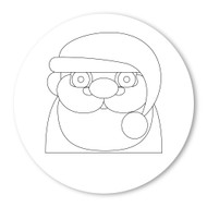 Emoji One COLORING Wall Graphic: Circle Father Christmas