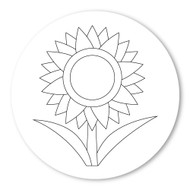 Emoji One COLORING Wall Graphic: Circle Sunflower