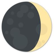Emoji One Animals & Nature Wall Icon: Waxing Crescent Moon Symbol