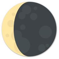 Emoji One Animals & Nature Wall Icon: Waning Crescent Moon Symbol