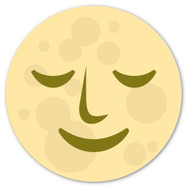 Emoji One Animals & Nature Wall Icon: Full Moon With Face
