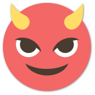 Emoji One Wall Icon: Smiling Face With Horns