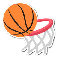 Emoji One Sports & Activities Wall Icon: Basketball And Hoop