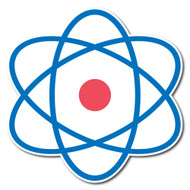 Emoji One Symbols Wall Icon: Atom Symbol