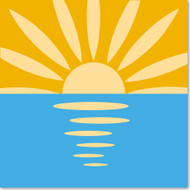 Emoji One Travel & Places Wall Icon: Sunrise