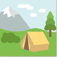 Emoji One Travel & Places Wall Icon: Camping
