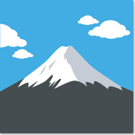 Emoji One Travel & Places Wall Icon: Mount Fuji