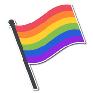 Emoji One Objects Wall Icon: Pride Flag