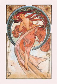 The Arts Dance (Rose) by Alphonse Mucha