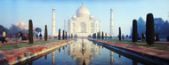 Privacy Screen: Reflection of Taj Mahal in Water